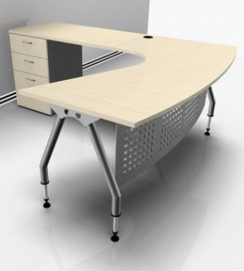 Basflex mobiliario mobiliario escritorio curvo for Mobiliario de escritorio fabricantes