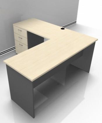 Basflex mobiliario mobiliario escritorio recto for Sillones escritorios oficina